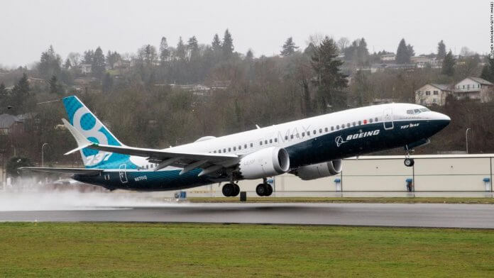 A Boeing 737 MAX 8