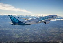 A330-800-first-flight-air-to-air-1--Airbus expects to increase A330neo manufacture during the coming 12 months and believes that it will be back on schedule within about 12 months.