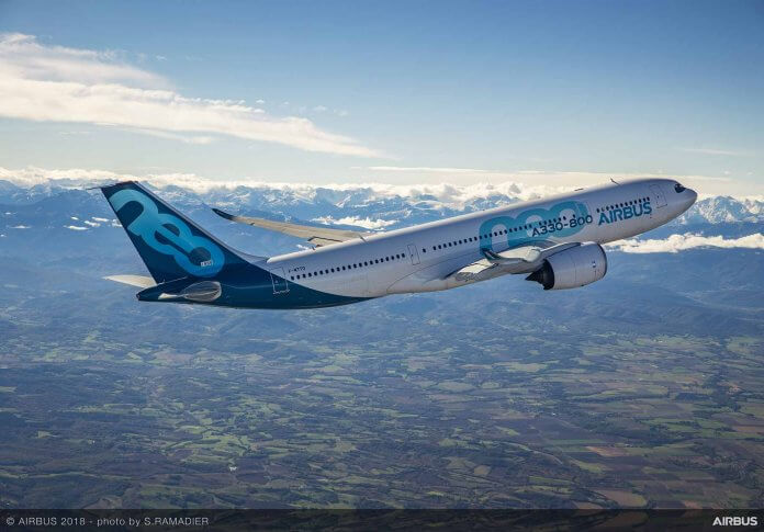 Manufacturers - 2020-foresight-A330-800-first-flight-air-to-air-1--Airbus expects to increase A330neo manufacture during the coming 12 months and believes that it will be back on schedule within about 12 months.