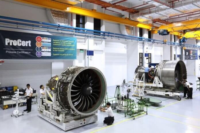 Eagle Air Services Asia (ESA), Pratt & Whitney's Singapore engine centre, has inducted its first PW 1100G-JM engine for overhaul.