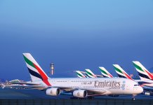 Emirates A380 Fleet at Dubai International