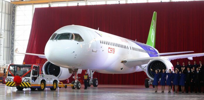 c919-3 COMAC has so far relied on sales to Chinese carriers to fill its orderbook.